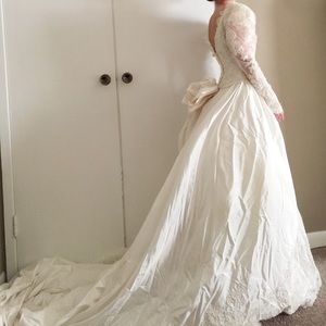 Vintage Pearl Beaded Lace Wedding Gown By Jasmine